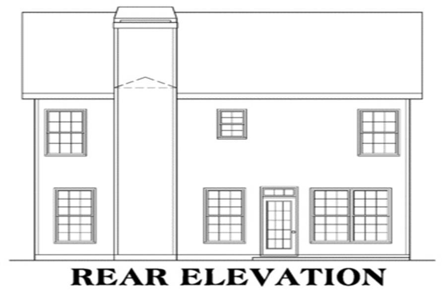 104-1043: Home Plan Rear Elevation
