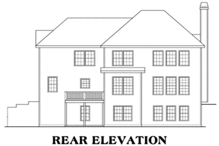 104-1044: Home Plan Rear Elevation