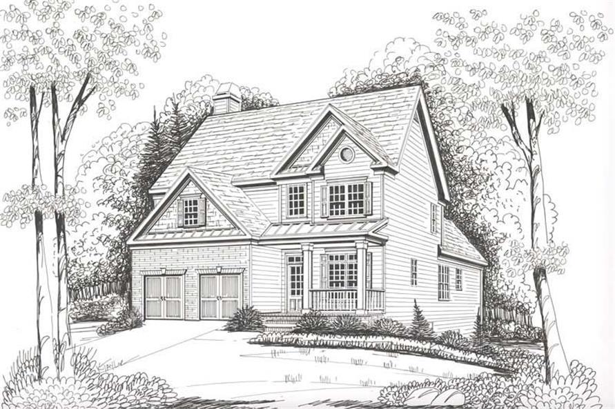 House Plan Hampton Front Elevation
