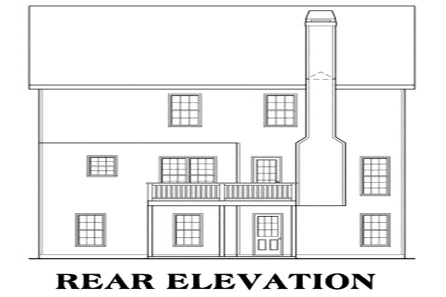 104-1047: Home Plan Rear Elevation