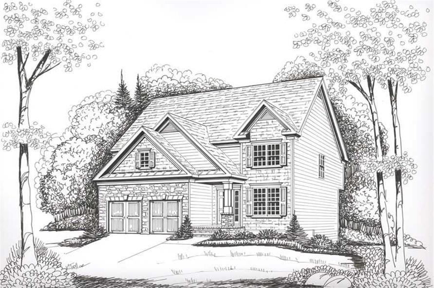 House Plan Stonewycke Front Elevation