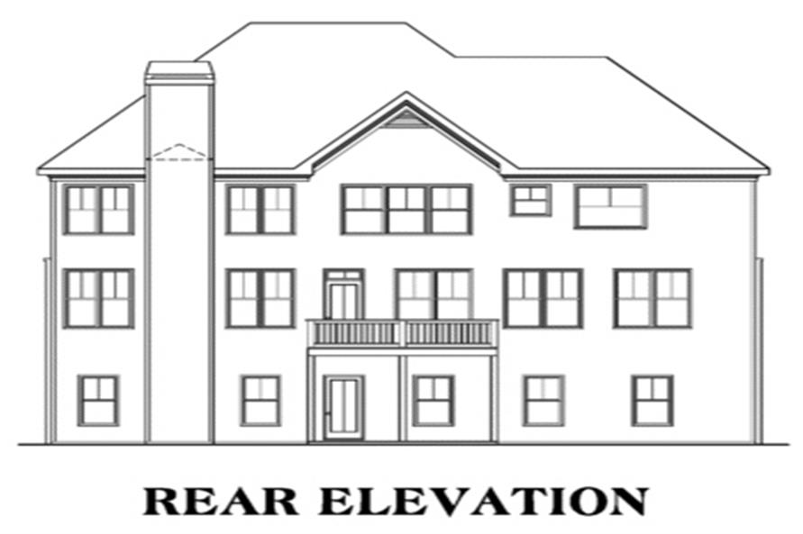 104-1050: Home Plan Rear Elevation