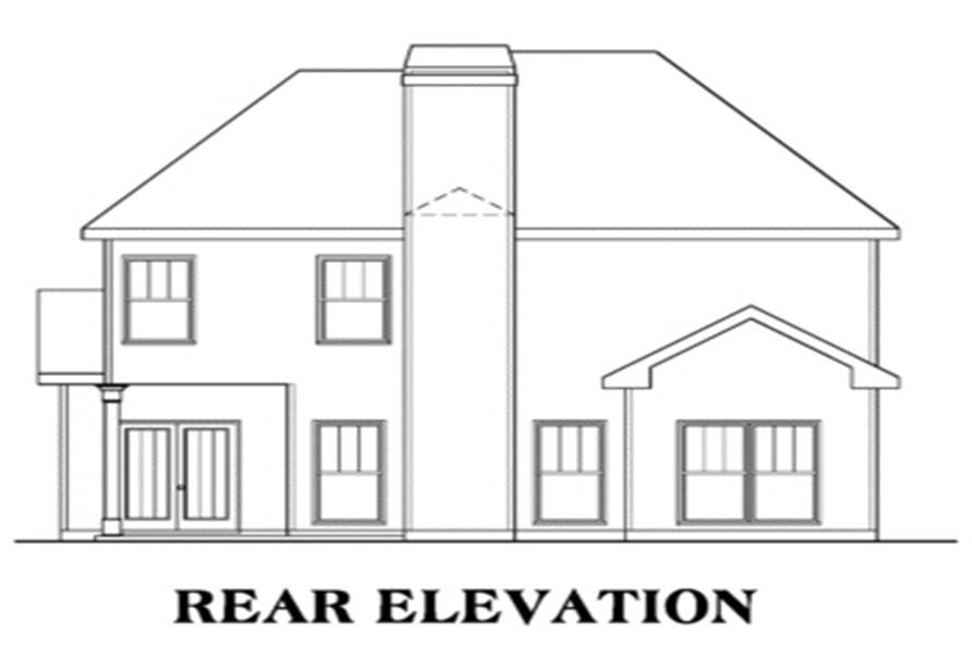 104-1051: Home Plan Rear Elevation