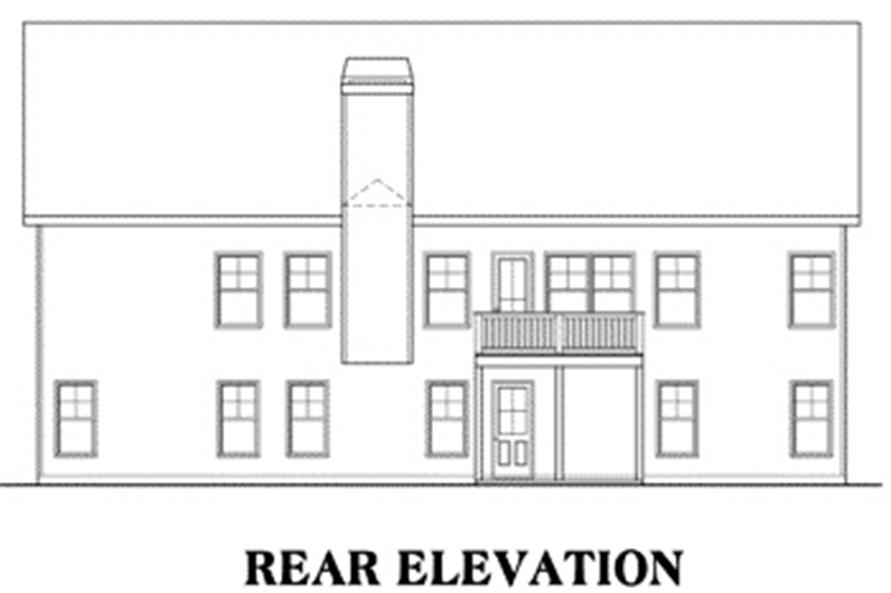 House Plan Glenridge Rear Elevation