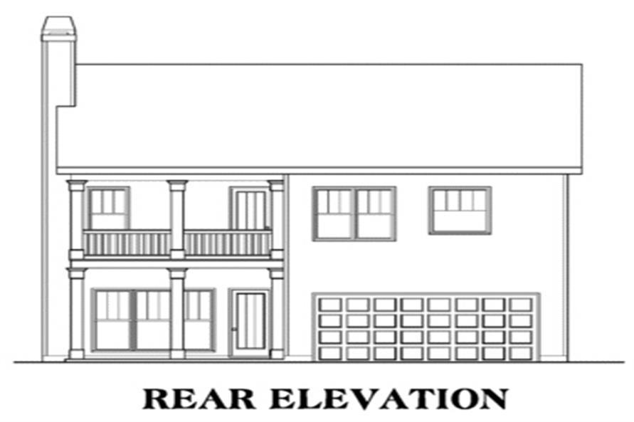 House Plan AG-Savannah Rear Elevation