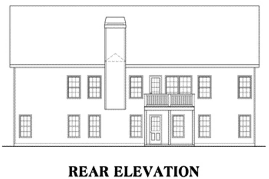 House Plan Kensington Rear Elevation