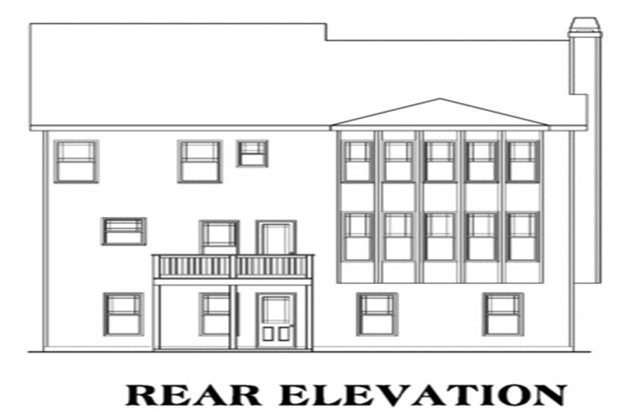 House Plan AG-Clearwater Rear Elevation