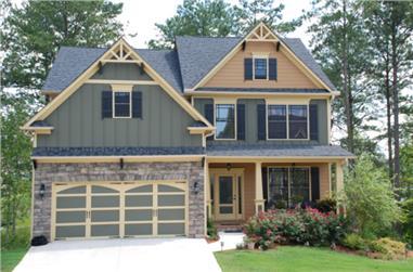 4-Bedroom, 2506 Sq Ft Craftsman Home Plan - 104-1061 - Main Exterior