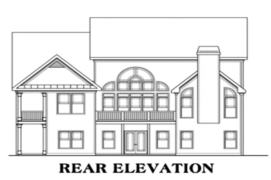 House Plan AG-Nalley Rear Elevation