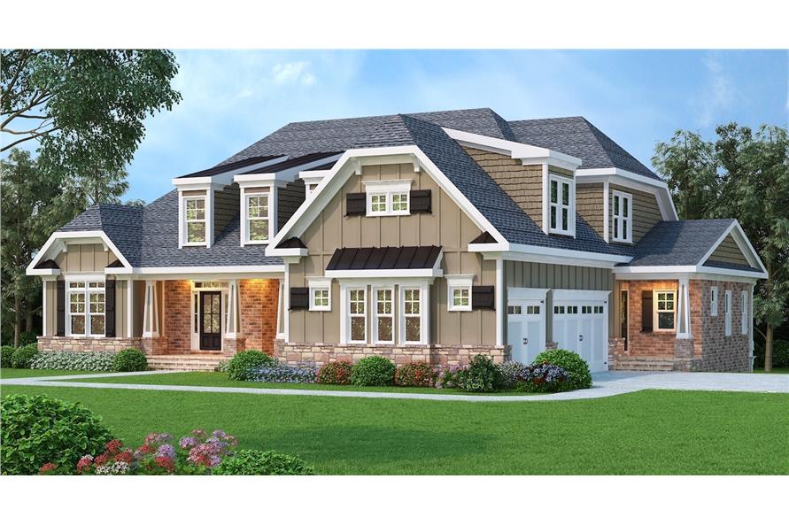 104-1070: Home Plan Rendering-Garage
