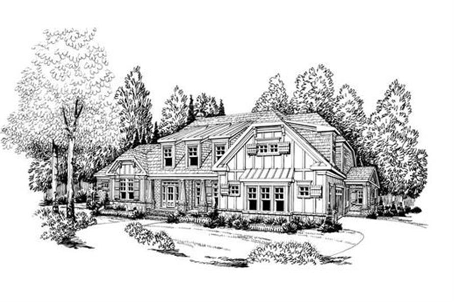 House Plan Hamilton Front Elevation