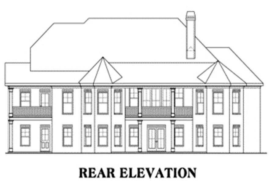 House Plan Hamilton Rear Elevation