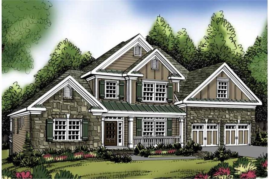 104-1071: Home Plan Rendering-Front Door
