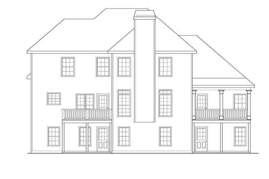 House Plan Chatham Rear Elevation