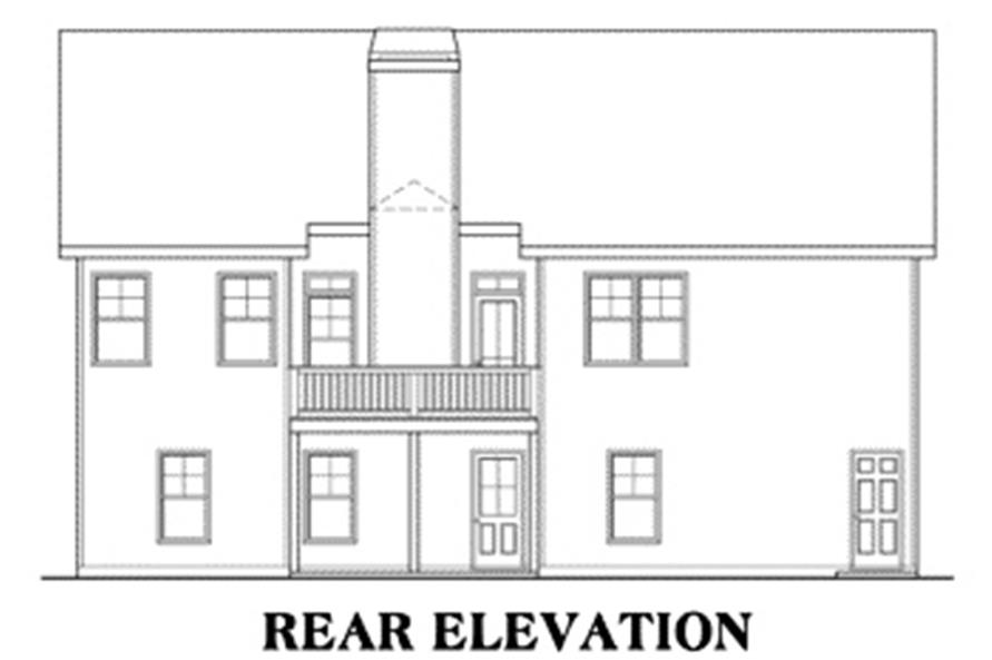 House Plan Callaway Rear Elevation