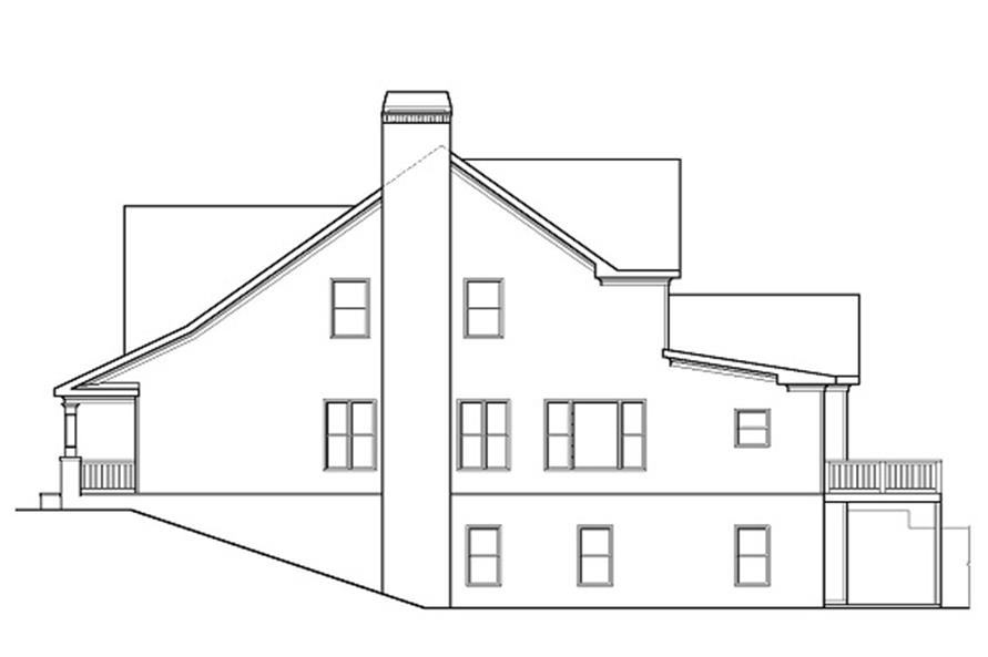 104-1074: Home Plan Right Elevation
