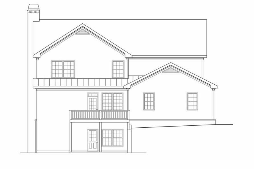 House Plan Greystone Rear Elevation