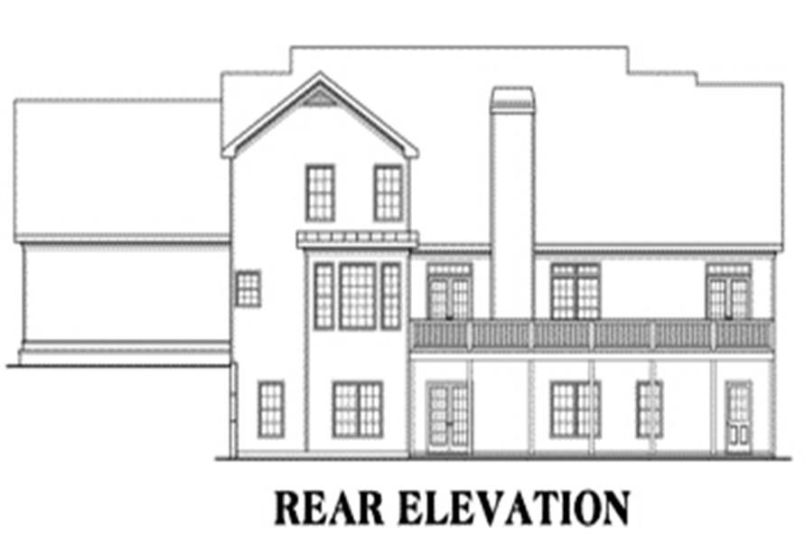 House Plan Barrington Rear Elevation