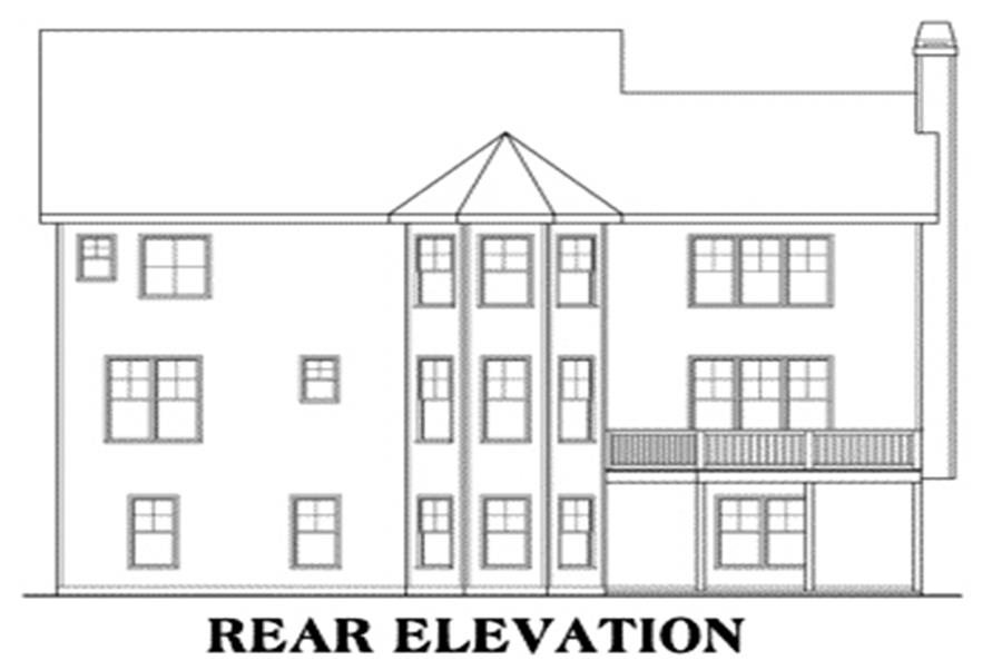 House Plan Providence Rear Elevation