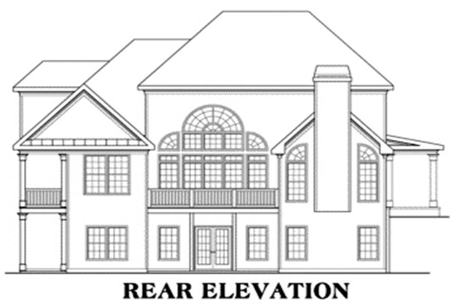 House Plan Roslyn Rear Elevation