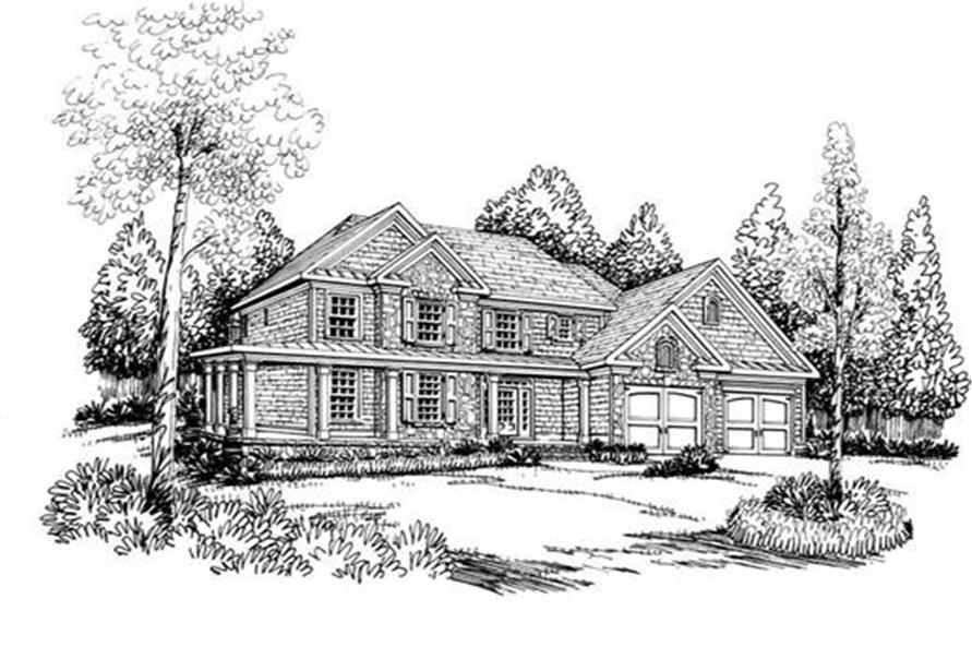 House Plan Roslyn Front Elevation
