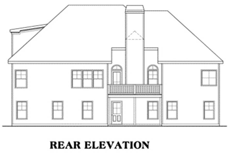 House Plan Brunswick Rear Elevation