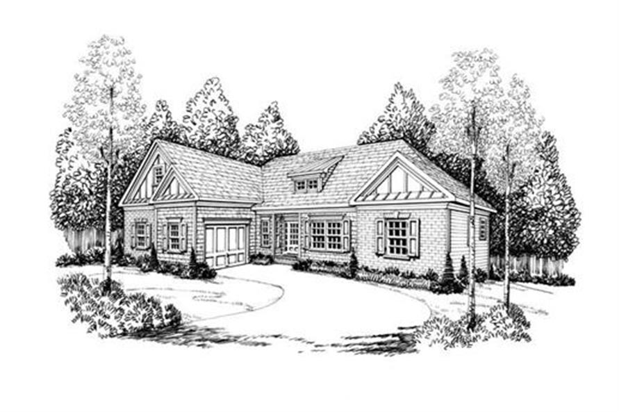 House Plan Princeton Front Elevation
