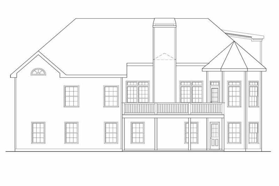 House Plan Princeton Rear Elevation