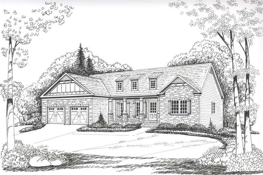 House Plan Allen Front Elevation
