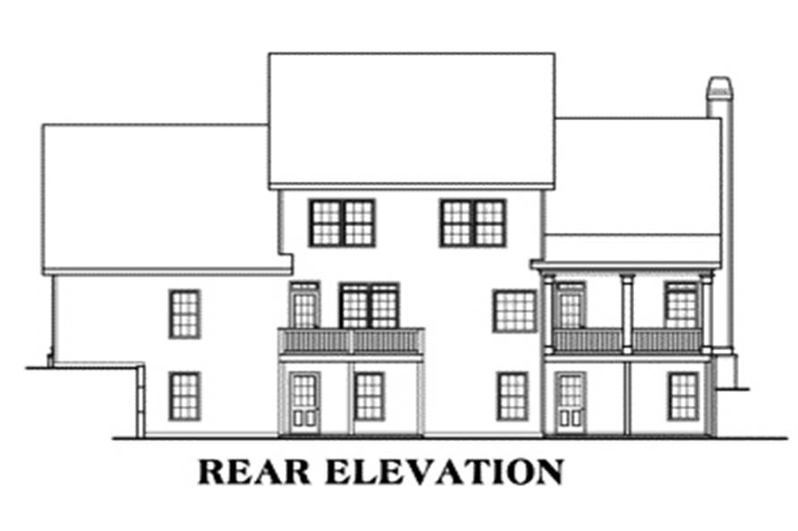 House Plan Timberland Rear Elevation