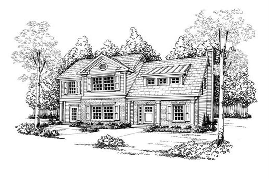 House Plan Georgian Front Elevation