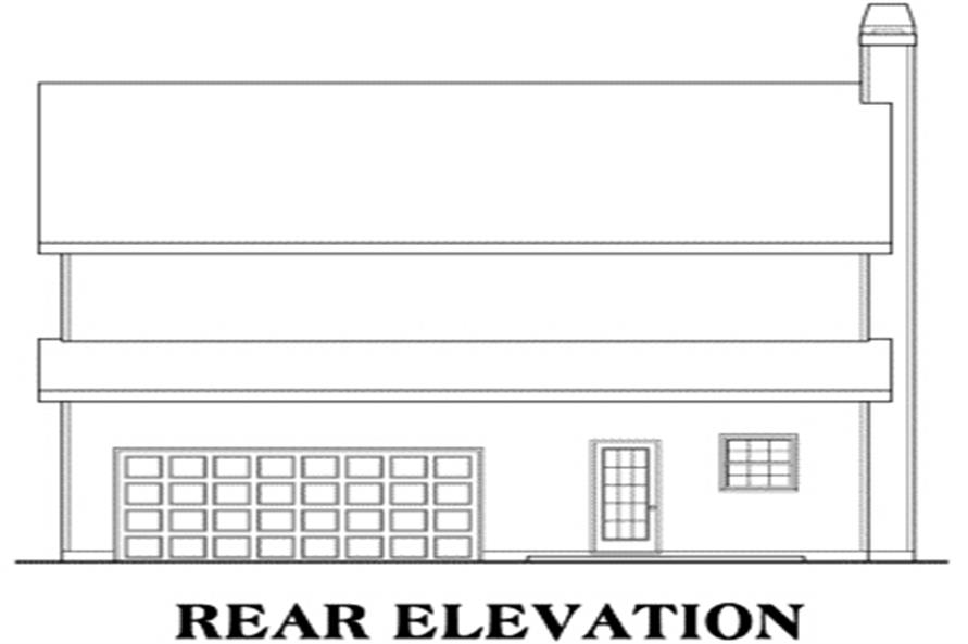 House Plan Vinings Rear Elevation
