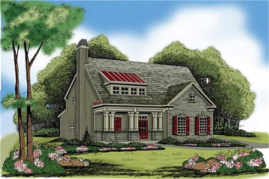 104-1100: Home Plan Rendering