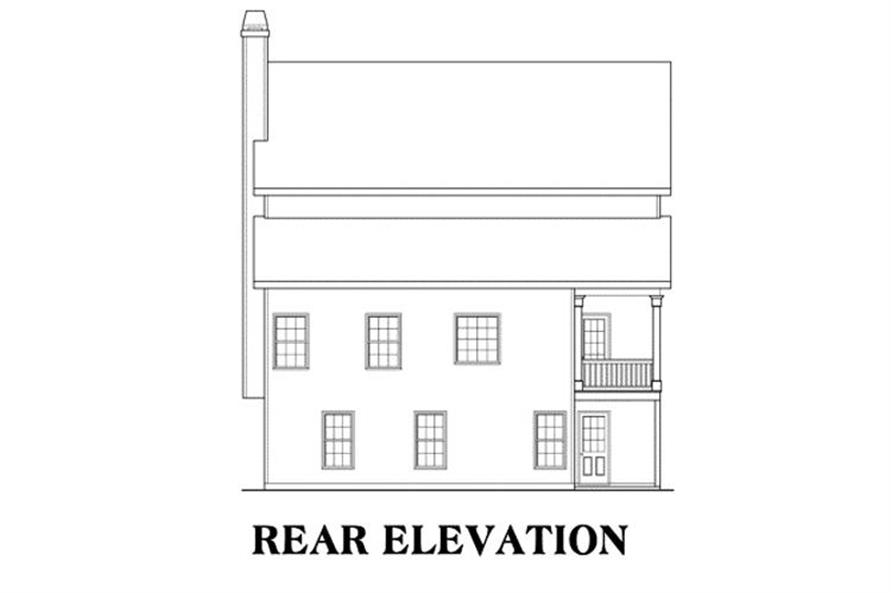 House Plan Springdale Rear Elevation