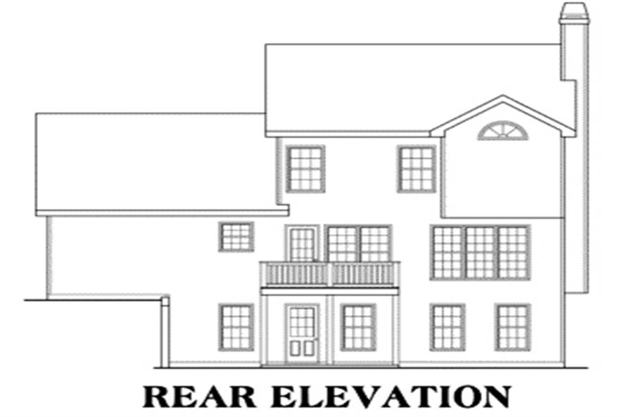 House Plan Nicholson Rear Elevation