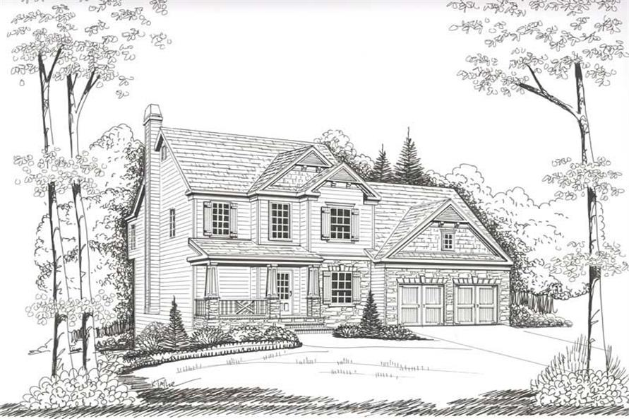 House Plan Nicholson Front Elevation