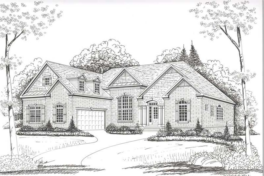 House Plan Queensbury Front Elevation
