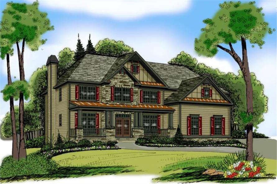 Main image for Traditional house plan # 17040