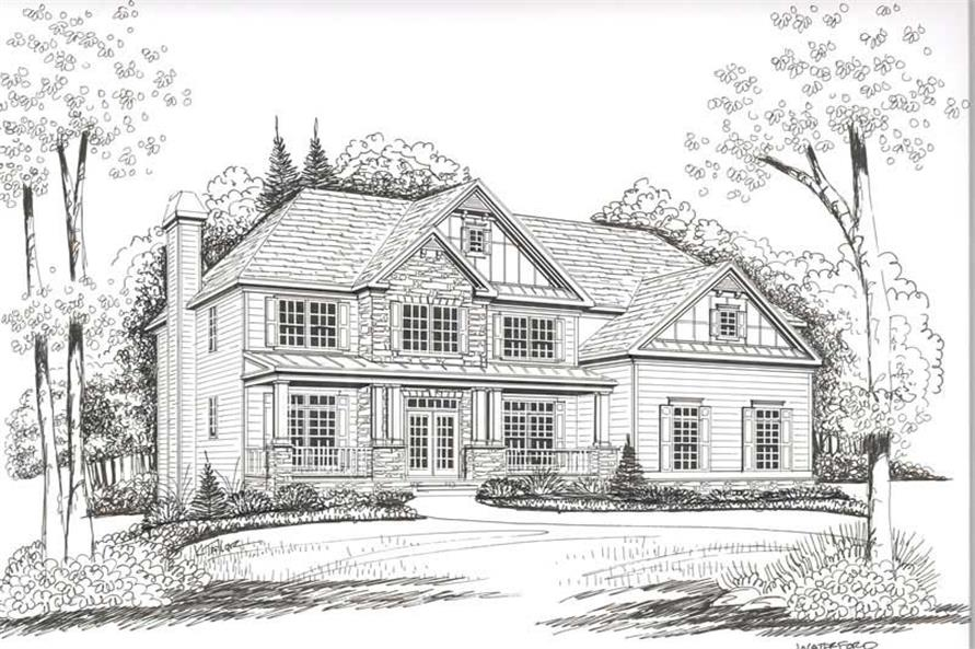House Plan Waterford Front Elevation