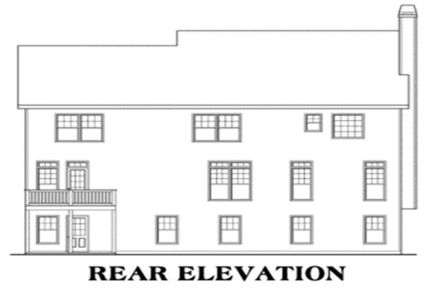 House Plan Montgomery Rear Elevation