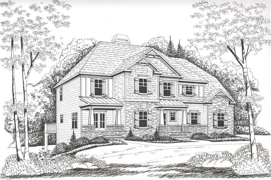 House Plan Manchester Front Elevation