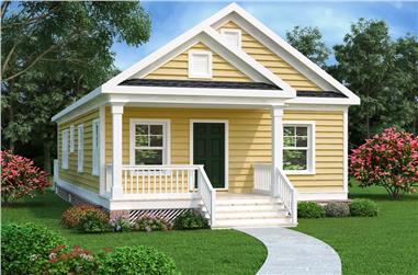 2-Bedroom, 966 Sq Ft Bungalow Home Plan - 104-1185 - Main Exterior