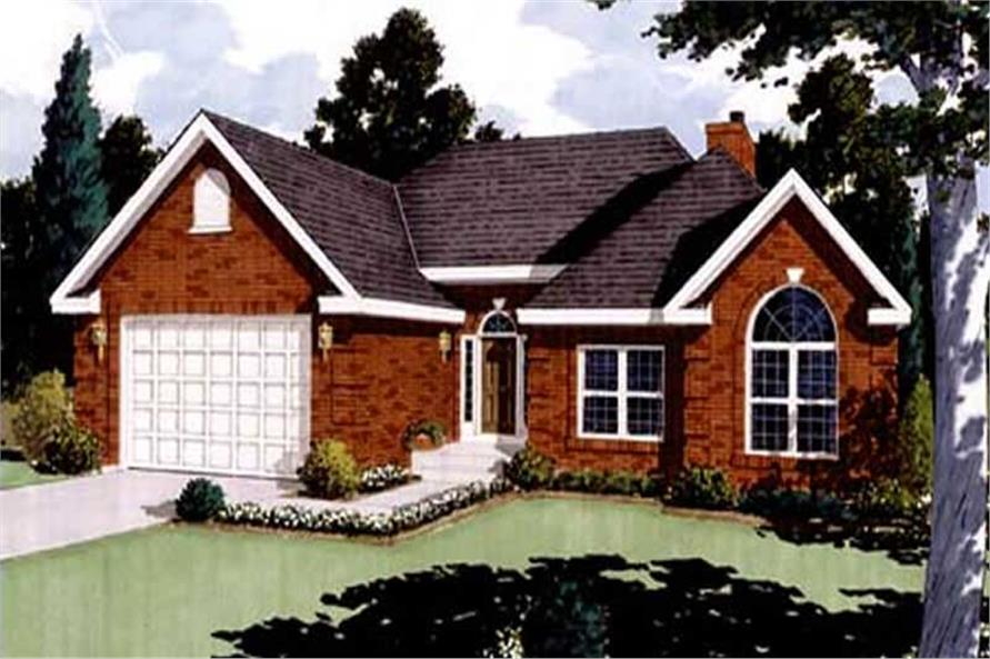 Main image for house plan # 9760