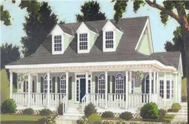 3-Bedroom, 1649 Sq Ft Country Home Plan - 105-1018 - Main Exterior