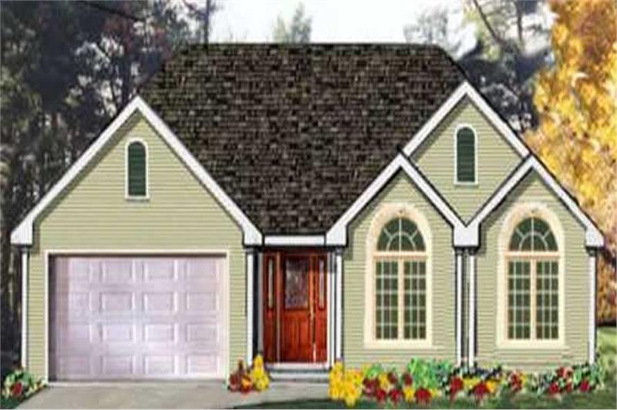 Main image for house plan # 9884