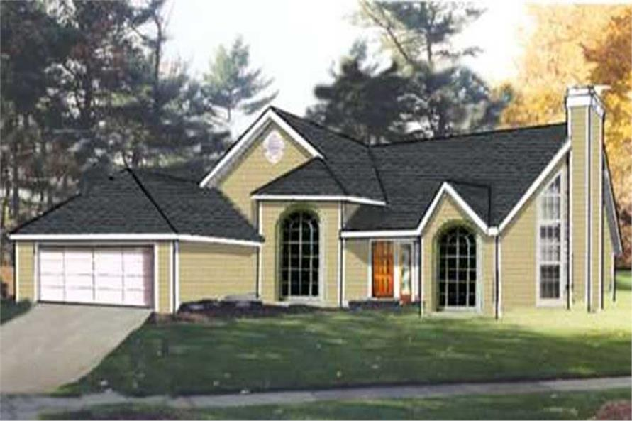 Main image for house plan # 9895