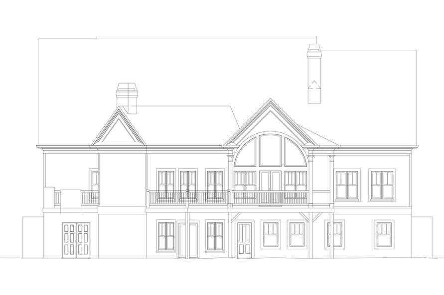 106-1043: Home Plan Rear Elevation