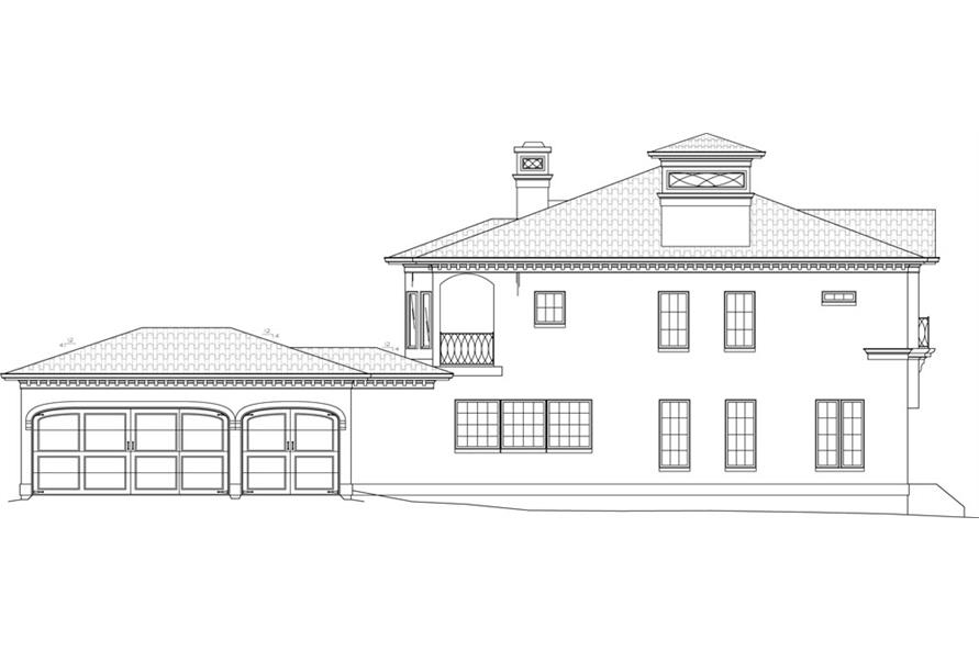 106-1051: Home Plan Left Elevation