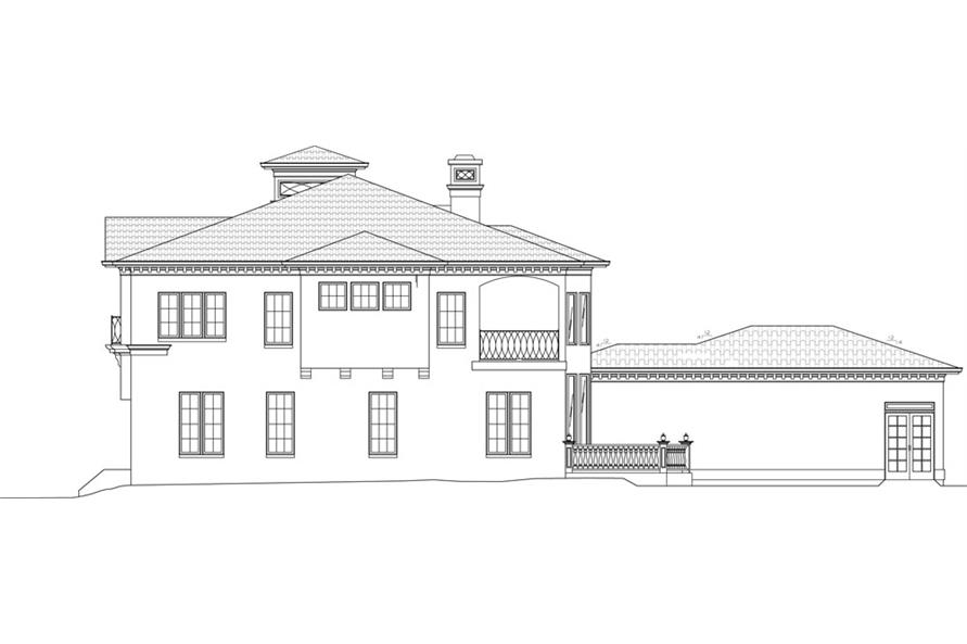 106-1051: Home Plan Right Elevation