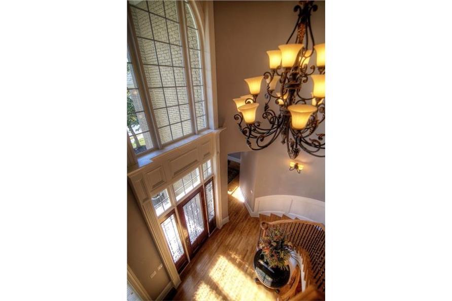 106-1167: Home Interior Photograph-Entry Hall: Staircase